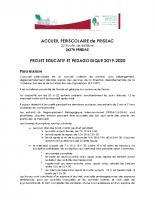 2019_2020 PROJET EDUC PEDA